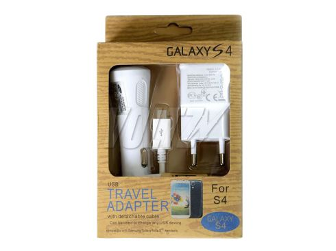 СЗУ Travel Adapter 3в1 для Samsung 2A белая (ETA-P10EBECSTD)